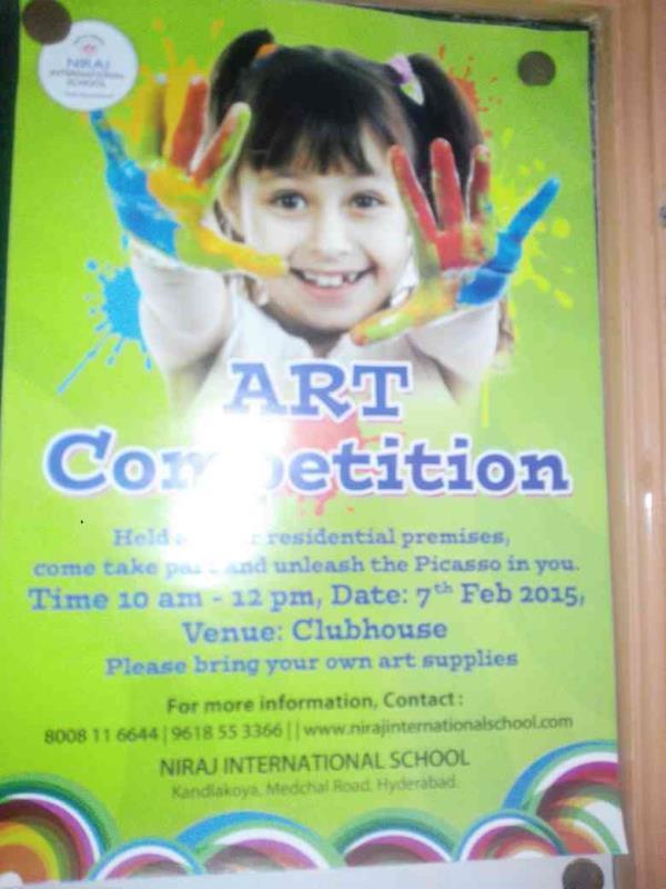 Art Competition held by Niraj Internationl school - by Niraj Internatiinal School, Hyderabad