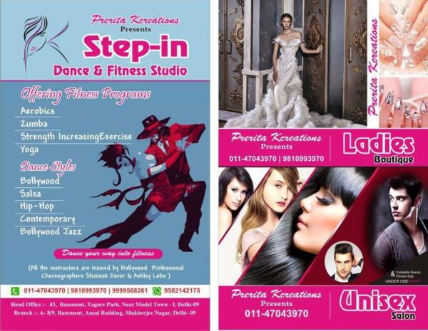 Finally the wait is over!!! Prerita Kcreations is bringing you a band of exciting services. Where beauty, fashion and fitness come up to meet together at our new location at Tagore Park. A ladies Boutique, Unisex Salon and an Aerobis, Zumba - by Prerita Kcreations @ 9810993970, Delhi