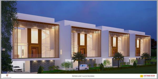 Looking for luxurious villa at ECR  Then look for seascape. Project consists of  	4 Ultra Luxury Villas  	5 BHK, each Villa size 6000 sft  	Ground + 2 Floors  	Land Extent – 8 grounds  	Undivided share - 2 grounds for each villa  	Bea - by Arham Builders, Chennai
