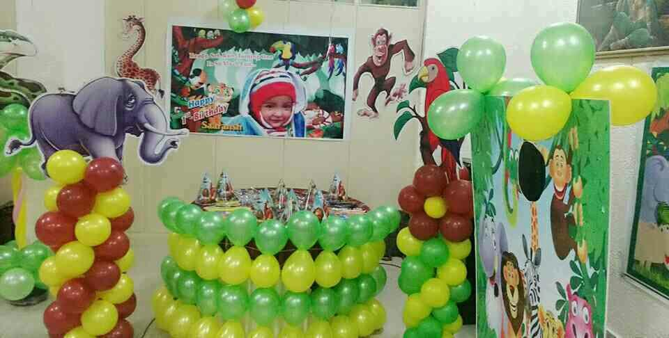 """Jungle jungle baat chali hai, pata chala hai... "" Jungle theme Birthday Party for our little mischievous cuties. Contact us now