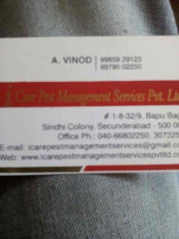I care pest management services  - by Icare, Hyderabad
