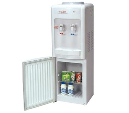 Water Dispenser with 16ltrs fridge Sure Brand model RW7CHH   Capacity                                       4 Ltrs (Hot) / 2 Ltrs (Cold)  Description                                  Hot & Cold Water Dispenser  Brand Sure  Power Consumption - by Vishalandhra Industries, Hyderabad