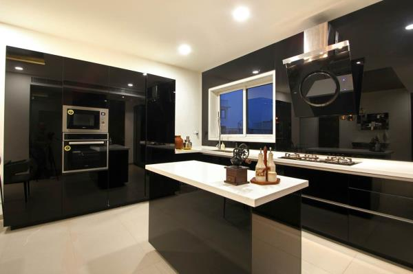 Back painted glass kitchen  - by KK Home Mart, Hyderabad