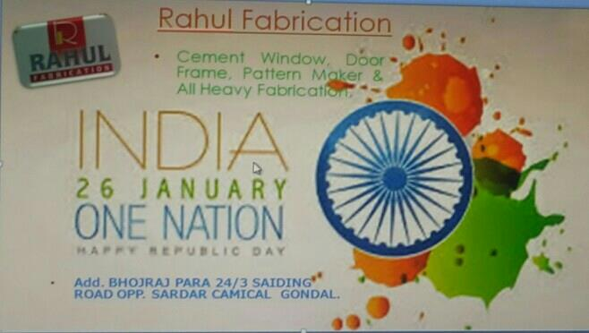 Happy Republic Day , wishing To Rahul Fabrication And All Our Mamber. - by Rahul Fabrication, Gondal