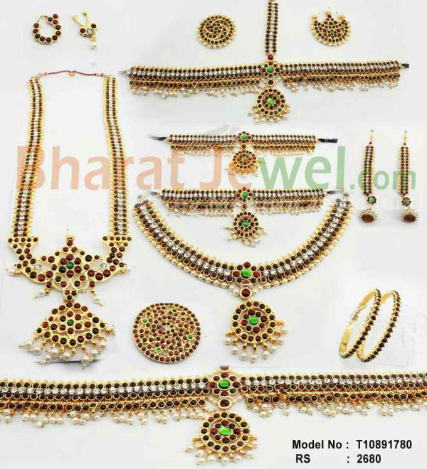 bharatnatyam jewellery  full set  - by Bharatjewel.com, Chennai