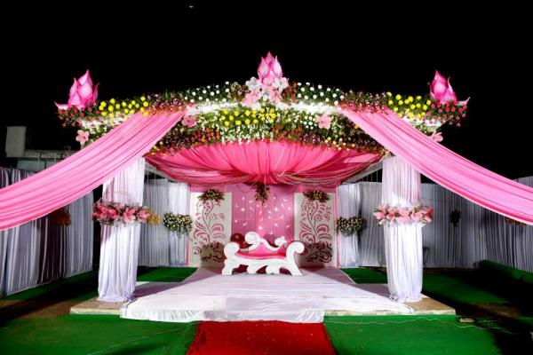 "Marriage is a ""Once in a LifeTime"" Activity. Let's get this beautiful Shrine for our Marriages also. #WeddingOrganisers #VTeamEvents #MandapamDesigners #MarriageStageDesigners. - by Veeru Mama Events 