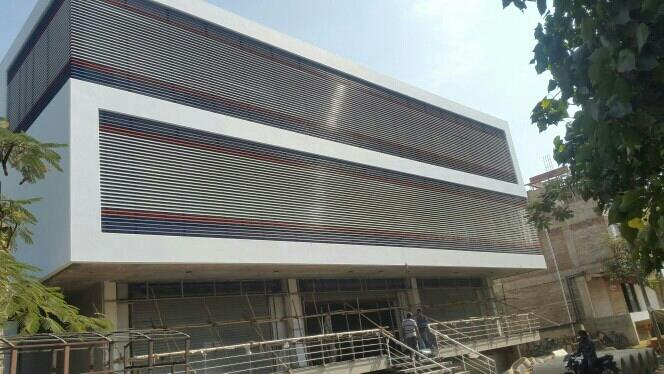 Exterior Sun Louvres - by Precision Metals Ceilings, Nashik