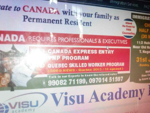 Immigration Event at chennai on 31st january - by Visu Academy Ltd, Hyderabad