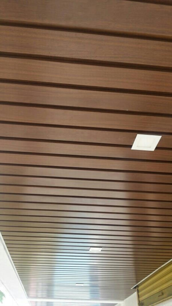 84C Linear Metal Ceilling wooden coated - by Precision Metals Ceilings, Nashik