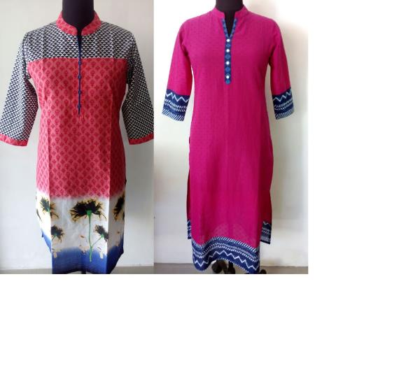 Cotton printed Kurtis available in M, XL, XXL size. Also available Designer Kurtis, Georgette Kurtis, Embroidery Kurtis. we are also wholesaler of leggings and jeans in Jaipur. - by jeans, Kurtis, leggings wholesaler jaipur@ 8104747999, Jaipur