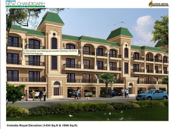 Omaxe Celestia Royal New Chandigarh Mullanpur One More Address in a Perfect Omaxe Township Coming Soon independent Floors With Lift ( S+3 ) Booking Open Omaxe Most Royal Project in New Chandigarh, Celestia Royal's Independent Floors (3 & 4  - by Iifl Reality  Ltd, Chandigarh