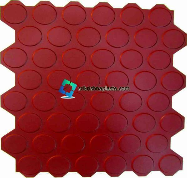 interlocking Concrete floor tile making Rubber Moulds India. srikrishnaplasto manufacturing  Rubber Moulds for Concrete interlocking tiles with extra high glossy finishing  - by interlocking paver block making machine, Delhi