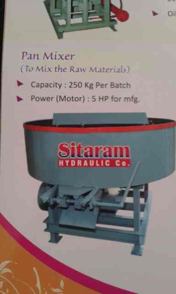Pan Mixer Manufacturers in Morbi-Rajkot-(Gujarat) - by Sitaram Hydraulic Co, Morbi