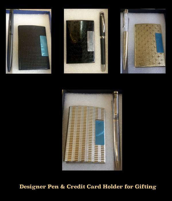 Designer Pen & Credit Card Holder for Gifting - by SHARDA SHRINGAR ART JEWELLERS, Mumbai