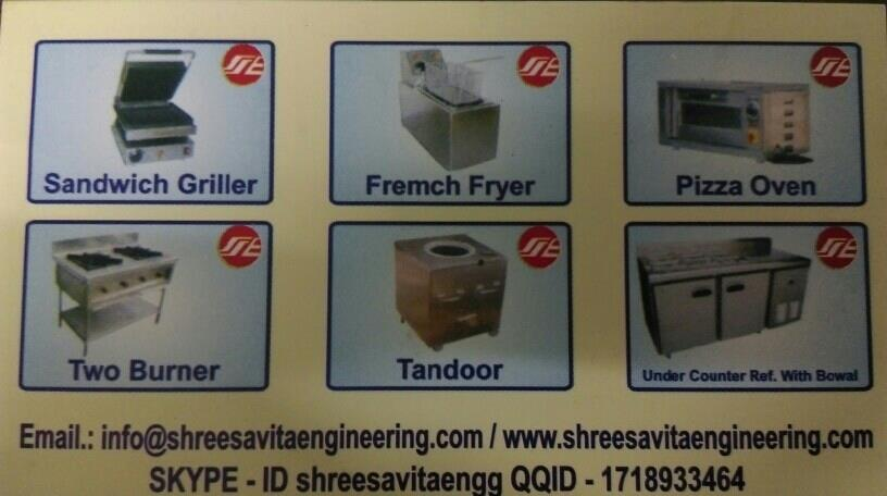 all types of kitchen equipment supplier in Ahmedabad  - by Shree Savita Eng, Ahmedabad