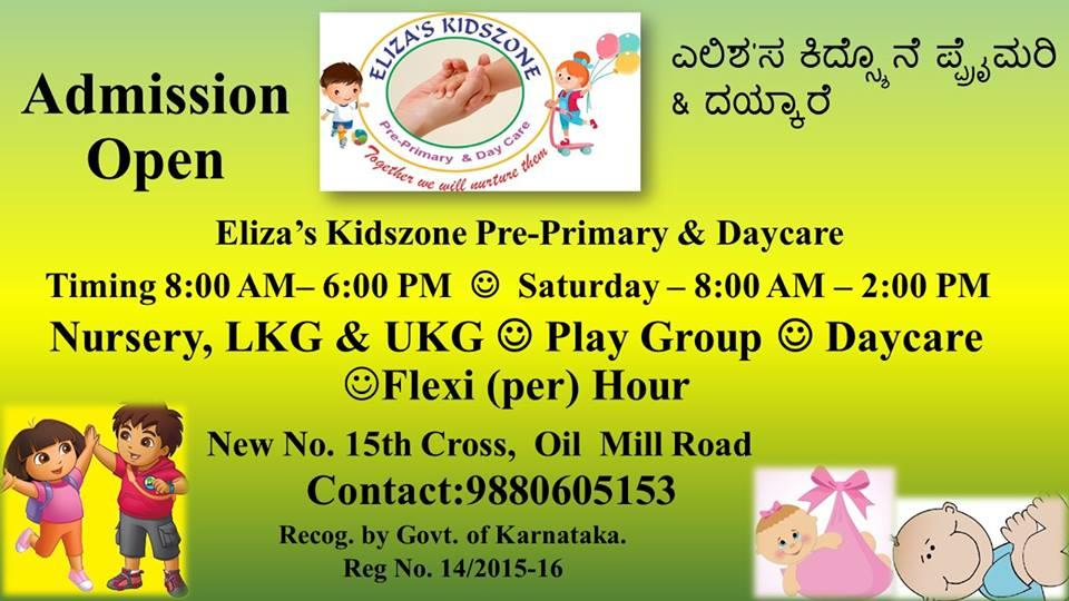 play school in Kalayanagar - by Eliza Kidszone, Bangalore Urban
