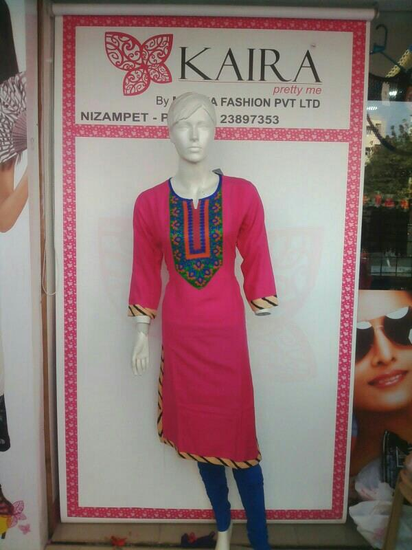 Long cotton  kurti  SIZES :- free  MRP :- 760/-  - by Kaira Nizampet , Hyderabad