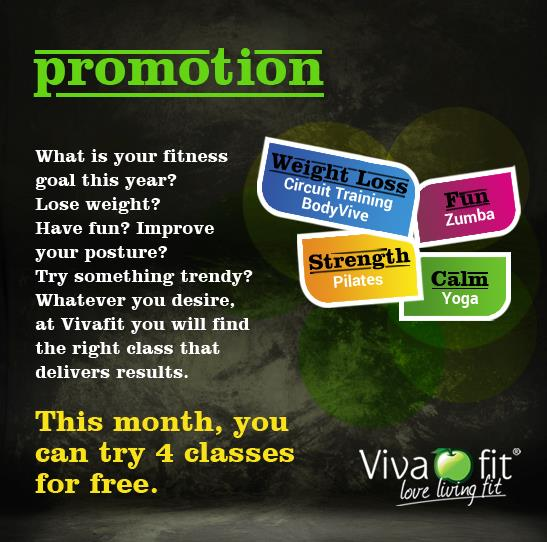 Whatever be your fitness goal this year, at Vivafit we will help you get there faster! Call today to try 4 FREE classes this month - by Vivafit, Delhi