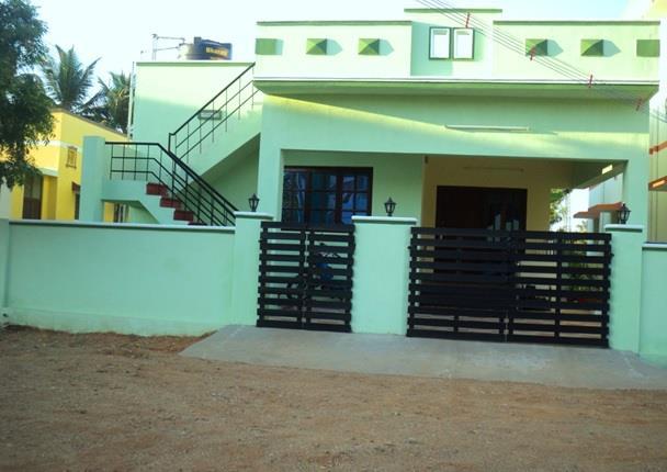Individual House Building at Kovaipudur   - Coimbatore(2009)  Client Mr Sivasubramaniam   - by United Builders, Chennai