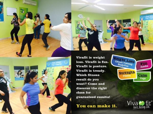 #Zumba fitness at #Vivafit! Burn calories and have fun dancing to latin beats. Call 9953737388 to book a trial class at the GK2 centre.  - by Vivafit, Delhi