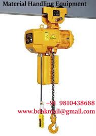 Material Handling manufactured electric hoists dealers  a large range of products. sWe always take care of the betterment of products in every aspects varying from feature enhancements, actual usage and aesthetics. We always manufacture & s - by Material Handling and Lifting Equipment in Delhi|Balkishan Dass, delhi