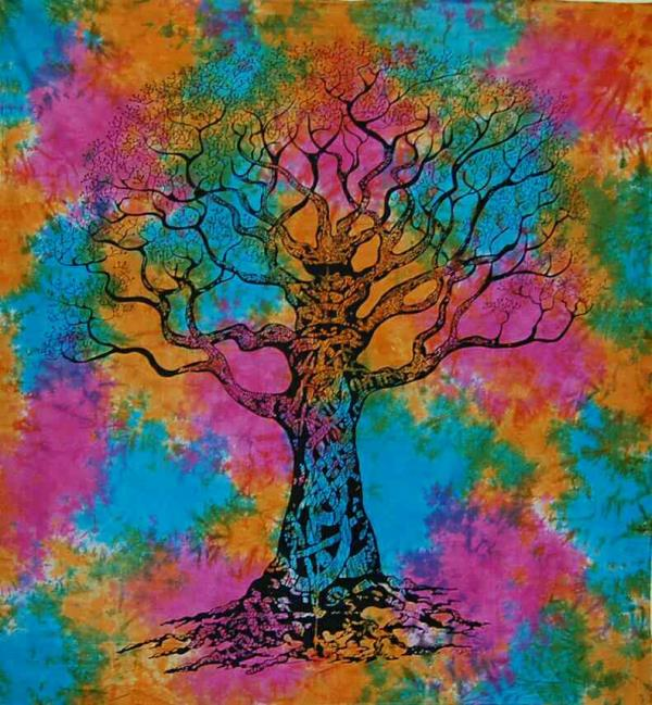 bedcovers:- here we are presenting a new trending design called tree of life.  color:- multicoloured size:-2.20*2.60(big size) fabric:- 100% high grade cotton - by Shiva Cloth Stores, Ajmer