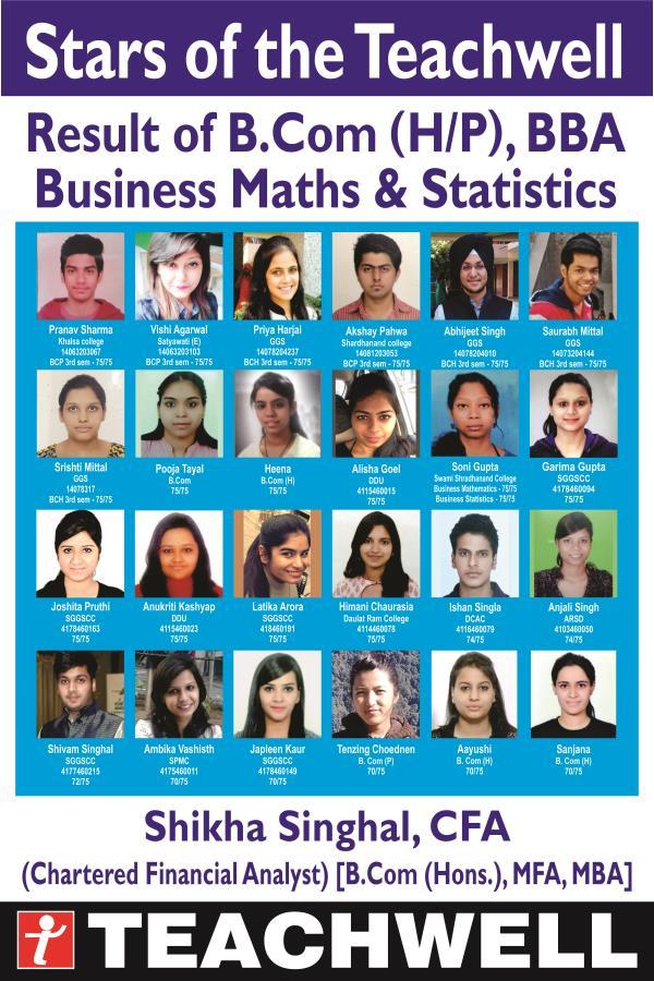 At Teachwell Our results speak... - by Teachwell Professional Studies Institute Pvt. Ltd.| GTB Nagar | 9310190899, Delhi