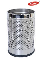 Stainless steel Dustbin :-  Prominent & Leading Manufacturer and Supplier from New Delhi, we offer Dustbin Products such as Perforated Dustbin, Half Plain Cylindrical SS Dustbin, Plain Peddle Dustbin and Plain Dustbin-KKPCB.  -)Perforated D - by Shapes Products Pvt.Ltd, Delhi