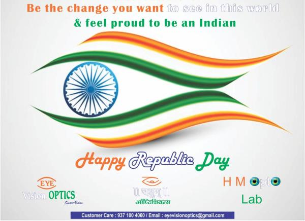 Happy Republic day - by Eye Vision Optics, Pune