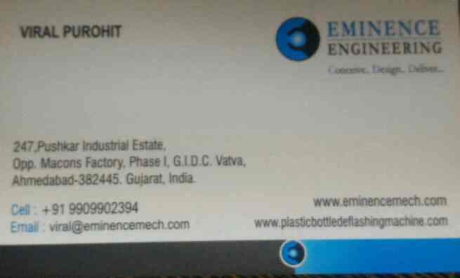 plz contact for eminence engineering ahmedabad  - by Eminence Engineering , Ahmedabad