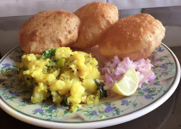Puri Bhaji -- Authentic Maharastrian Breakfast.  - by Anita Caterers, Mumbai