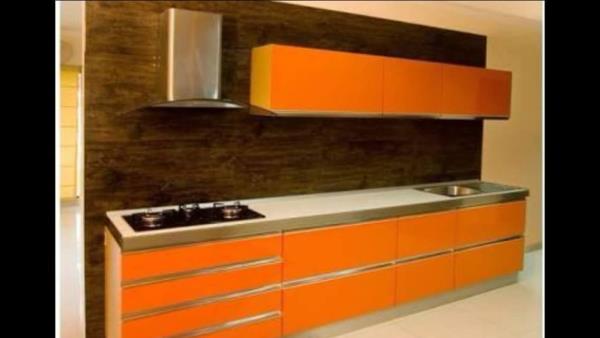 Modular Kitchen with Ochre Touch - by B & B Decor, Kolkata