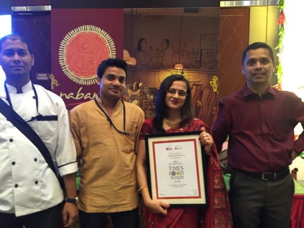 Glad to share that Nabanno have won the prestigious Times Food Award for consecutive 2 years for the Best Bengali Restaurant. We thank all our patrons and well wishers for the love and support - by Nabanno, Hyderabad
