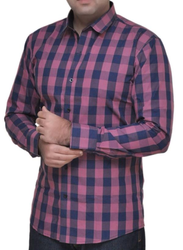 check Shirt slim fit with awesome look By I.F.D.I.  - by Aelux india retail Pvt.Ltd., New Delhi