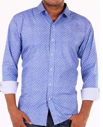 Sky Blue Formal Shirt available in all over Delhi NCR.  - by Aelux india retail Pvt.Ltd., New Delhi