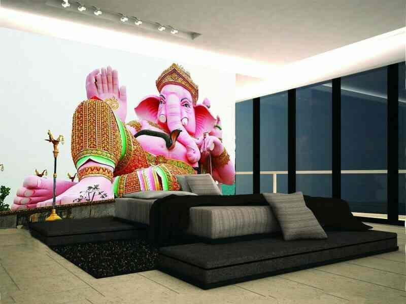 ||वक्रतुण्ड महाकाय सूर्यकोटि समप्रभ निर्विघ्नं कुरु मे देव सर्वकार्येषु सर्वदा|| Spiritual wallpapers || Ethnic wallpapers || customized wallpapers  #leading_customized_retailer_Delhi_NCR #Best_3D_wallpapers_in_Delhi #bespoke_designs #home_ - by Xception Interiors +91-9971418001 9873585903, Delhi