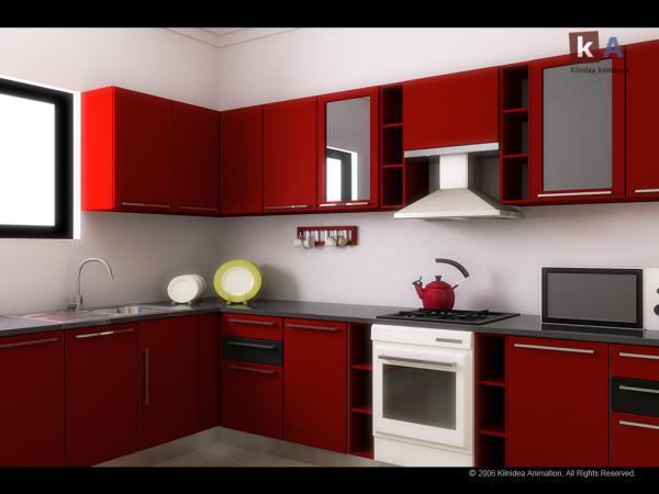 A kitchen is a room or part of a room used for cooking and food preparation in a dwelling or in a commercial establishment. In the West, a modern residential kitchen is typically equipped with a stove, a sink with hot and cold running water - by Dream Home Interior, Gurgaon
