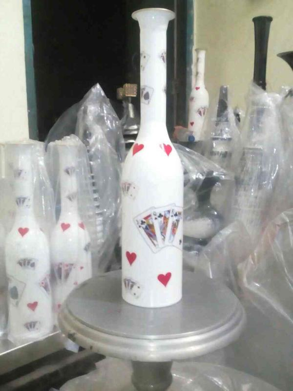 Flower vase size 18 inches. - by Metal Shaper, Moradabad