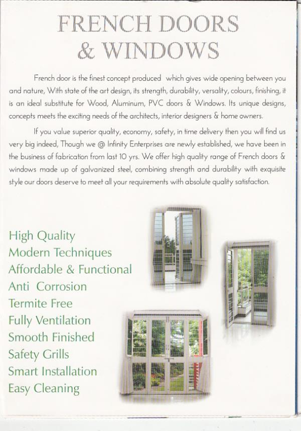 Safety Doors & Windows  - by INFINITY French Doors, Nashik