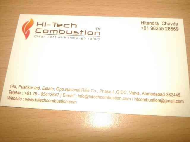 we are manufacture of burner - by Hi Tech Combustion, Ahmedabad
