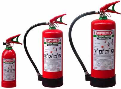 Clean Agent Fire Extinguisher in Jammu SUPREMEX fire extinguishers offer the superior performance and reliability you expect from quality products. CLEAN AGENT replaces Halon 1211 as the agent-of-choice for applications where the agent must - by Fire Escorts Services, Jammu