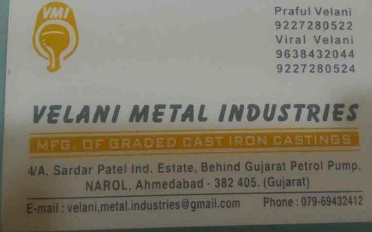plz contact for any kind of job work  - by Velani Metal Industries , Ahmedabad