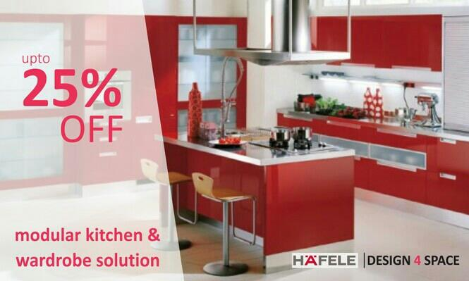 discount on modular kitchen in whitefield bangalore  - by Design 4 Space, Bangalore