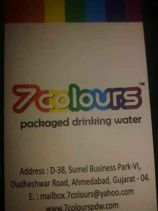 pakeged drinking warer - by 7 Colours, Ahmedabad