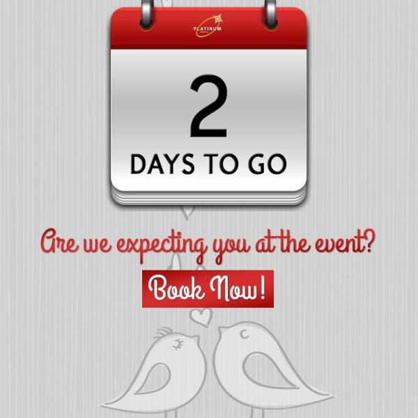 Only 2 days to go!!! Have you booked your table??? Don't miss the fun! Book now!!  Contact: 079 2664 2494 to know more. #ValentinesGlory #CandleLightDinner #ValentinesDay #PlatinumHotels #14thFeb2016 #HappyHeartsHop #SoireeOfHearts #HeartsA - by Hotel Platinum Inn - Silver Dine Restaurant, Ahmedabad