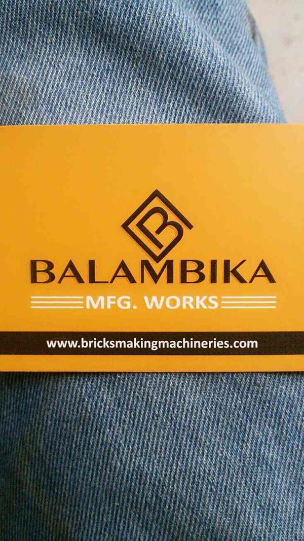 visiting card - by Balambika manufacturing works, Morvi