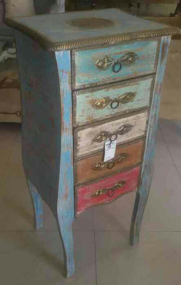 Wooden Multicoloured Rustic & Distress Chest of Drawers. An masterpiece corner for your dream home. At Mitakshara Designs you will find such exclusive and unique collection to decorate your house and make it perfect a home. - by Mitakshara Designs, Jaipur