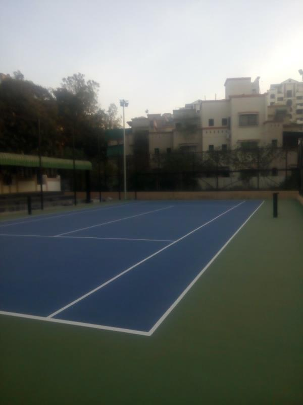 Acrylic basketball court with 5 layer coating. - by Shreyas Decor, Pune