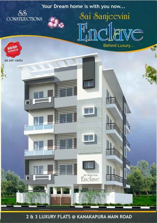 2 bhk flats sale in Kanakapura road off KSIT Project Sai sanjeevini Enclave call for booking  - by Gardencity, Bengaluru
