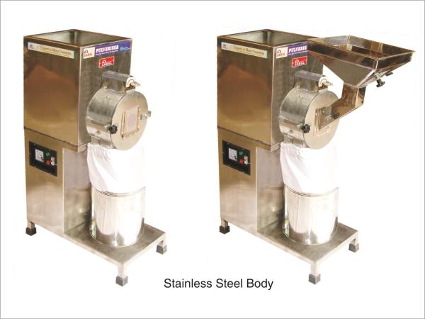 Description: Saral STAINLESS STEEL pulverizer is used for grinding wheat, ragi, rice, millet, maize, rice, besan, black pepper, dry chilli, turmeric amla, herbs.  Models:Available in 2 h.p, 3 h.p, 5 h.p, 7.5 h.p, & 10 h.p.  Features: No fou - by Sri Ganesh Mill Stores, Coimbatore
